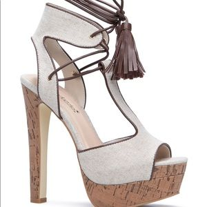 Adeline Lace Up Heels